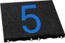 czarna plytka cyferka